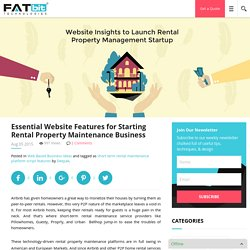 Essential Website Features for Starting Rental Property Maintenance Business