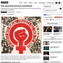 The essential feminist manifestos
