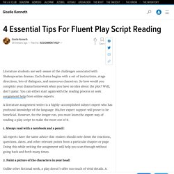 4 Essential Tips For Fluent Play Script Reading