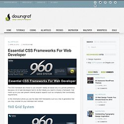 Design weblog for designers » Essential CSS Frameworks For Web Developer