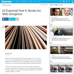 10 Essential Free E-Books for Web Designers