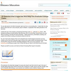 25 Essential iPad 2 Apps that Will Help You Graduate College Faster