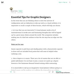Essential Tips For Graphic Designers