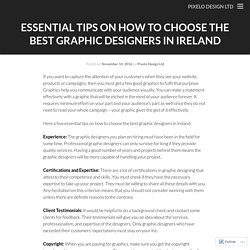 Essential Tips on How to Choose the Best Graphic Designers in Ireland