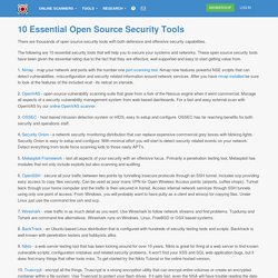 10 Essential Open Source Security Tools