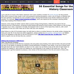 50 Essential Songs for the History Classroom