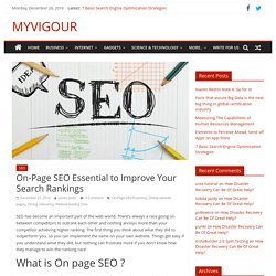 On-Page SEO Essential to Improve Your Search Rankings