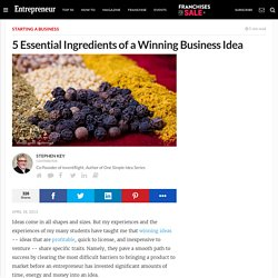 5 Essential Ingredients of a Winning Business Idea