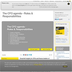 CFO agenda - Essential Insights for CFOs & Finance Leaders - EY - India