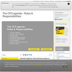 CFO agenda - Essential Insights for CFOs & Finance Leaders - EY - India