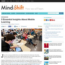 5 Essential Insights About Mobile Learning