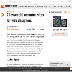 21 essential resource sites for web designers