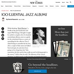 New Yorker - 100 Essential Jazz Albums