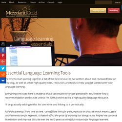 Essential Language Learning Tools