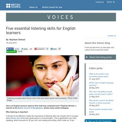 Five essential listening skills for English learners