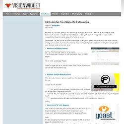 30 Essential Free Magento Extensions | VisonwidGet