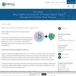 Why Graphs Are Essential To Today's Master Data Management [NoSQL Now! Preview]