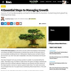 4 Essential Steps to Managing Growth