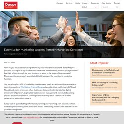 Essential for Marketing success: Partner Marketing Concierge
