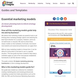 Essential marketing models