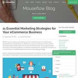 11 Essential Marketing Strategies for Your eCommerce Business - Blog - Mouseflow - Session Replay, Heatmaps, Funnels & Forms