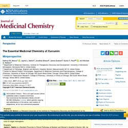 The Essential Medicinal Chemistry of Curcumin - Journal of Medicinal Chemistry