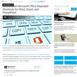 60 Essential Microsoft Office Keyboard Shortcuts for Word, Excel, and PowerPoint
