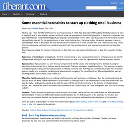 Some essential necessities to start up clothing retail business