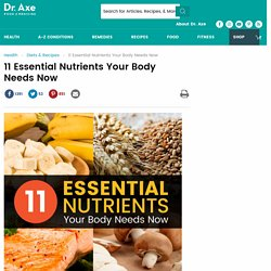 11 Essential Nutrients Your Body Needs Now