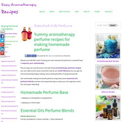 Essential Oils Perfume Recipes