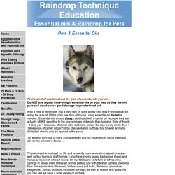 Essential oils & Raindrop for Pets