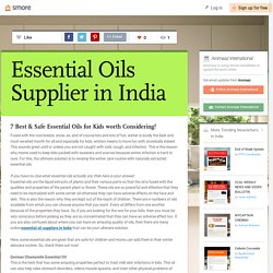Essential Oils Supplier in India