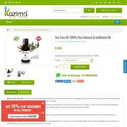 Buy Tea Tree Essential Oil online India - cheap Tea Tree Oil online India