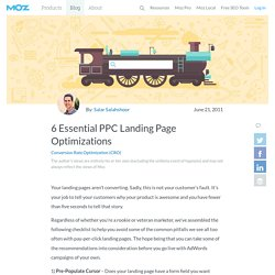 6 Essential PPC Landing Page Optimizations