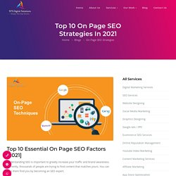 Top 10 Essential On Page SEO Strategies You Need to Know