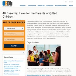 48 Essential Links for the Parents of Gifted Children