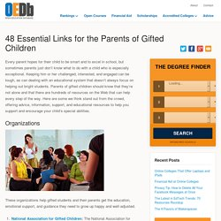 50 Essential Links for the Parents of Gifted Children