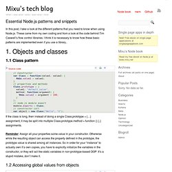 Essential Node.js patterns and snippets « Mixu's tech blog