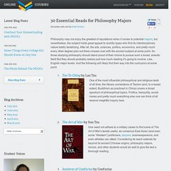 30 Essential Reads for Philosophy Majors - Online College CoursesOnline College Courses