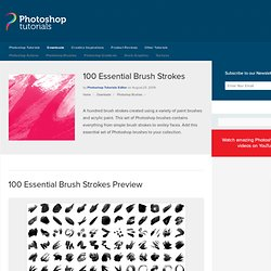 100 Essential Brush Strokes | Photoshop Brushes