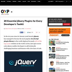 20 Essential jQuery Plugins for Every Developer's Toolkit