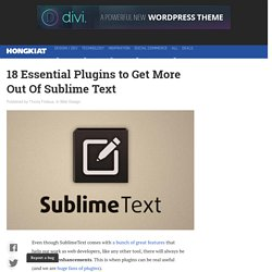 18 Essential Plugins to Get More Out Of Sublime Text