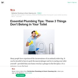 Essential Plumbing Tips: These 3 Things Don't Belong in Your Toilet