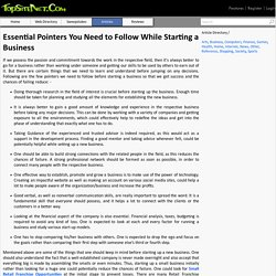 Essential Pointers You Need to Follow While Starting a Business