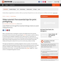 Video tutorial: Five essential tips for print preflighting