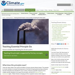 Teaching Essential Principle 6: Human activities are impacting the climate system.