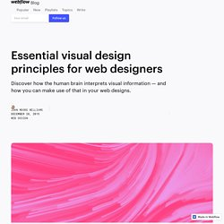 Essential visual design principles for web designers