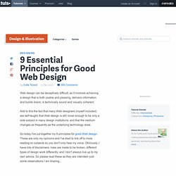 9 Essential Principles for Good Web Design - PSDTUTS