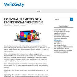 ESSENTIAL ELEMENTS OF A PROFESSIONAL WEB DESIGN – WebZesty