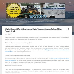 Why Is It Essential To Get Professional Water Treatment Service Fallston MD and Forest Hill MD
